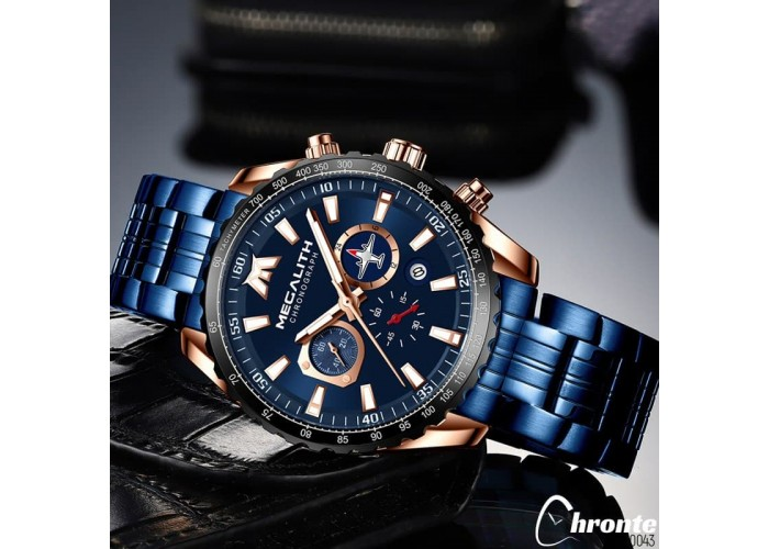Мужские часы Chronte Dwayne Blue-Black-Cuprum