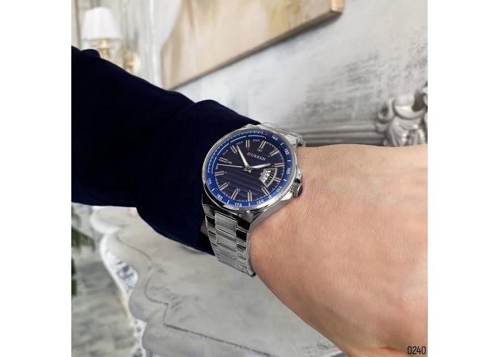 Мужские часы Curren 8375 Silver-Blue