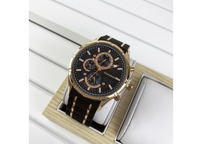 Мужские часы Guardo 11531-6 Brown-Cuprum