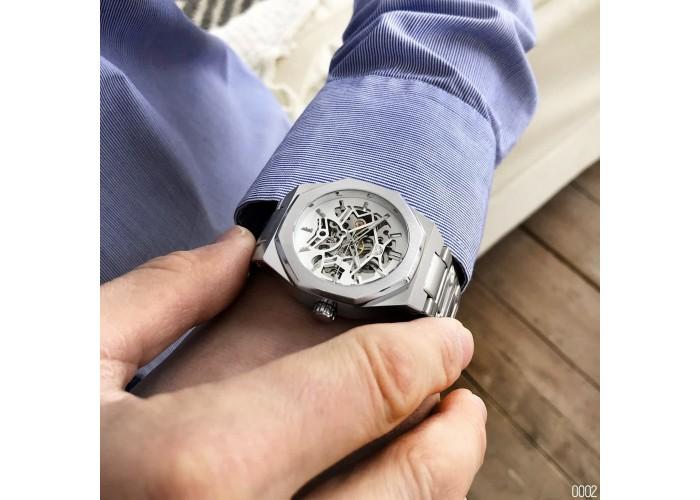 Мужские часы Gusto Skeleton Silver-White