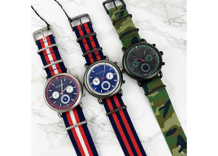 Мужские часы Guardo 11146-2 Blue-Red-White-Silver