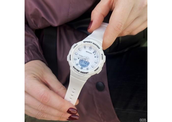 Женские часы Sanda 6005 White-Silver