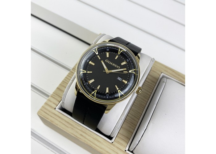 Мужские часы Guardo 012651-4 Black-Gold