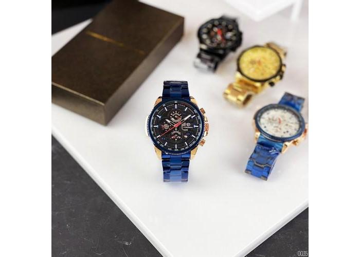Мужские часы Forsining 6909 Blue-Cuprum-Black