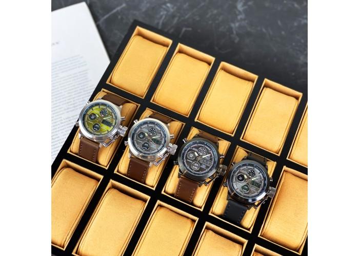 Мужские часы AMST 3003A Silver-Green-Brown Wristband