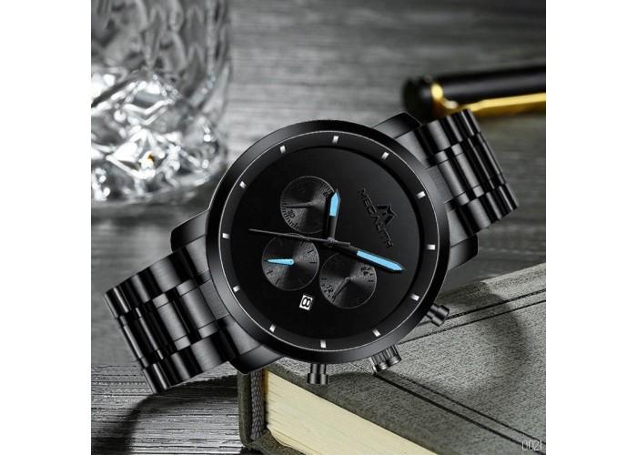 Мужские часы Megalith 8021M Black-Light Blue