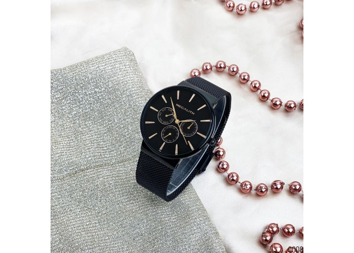Часы Мужские часы Megalith 0047M-6 Black-Gold