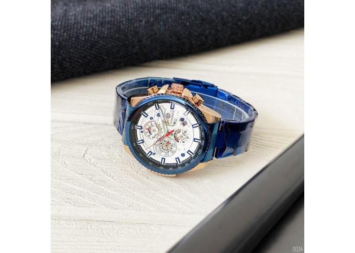 Мужские часы Forsining 6909 Blue-Cuprum-White