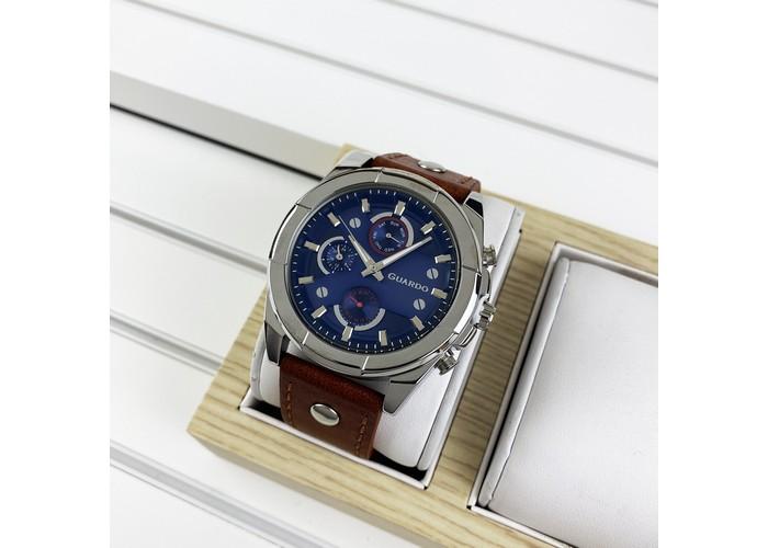 Мужские часы Guardo 10281-1 Brown-Silver-Blue
