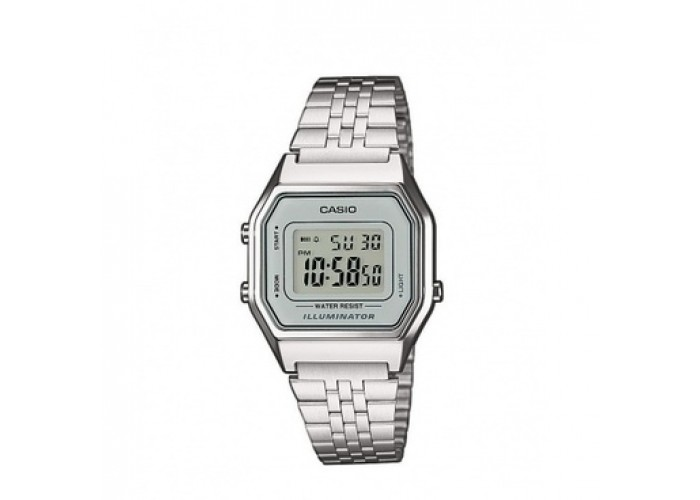 Женские часы Мужские часы Casio LA680WA-7EF All Silver