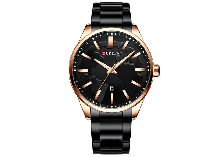 Мужские часы Curren 8366 Black-Gold