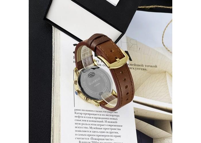 Мужские часы Guardo 12432(1)-4 Brown-Gold-Black