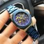 Мужские часы Gusto Skeleton Blue-Gold