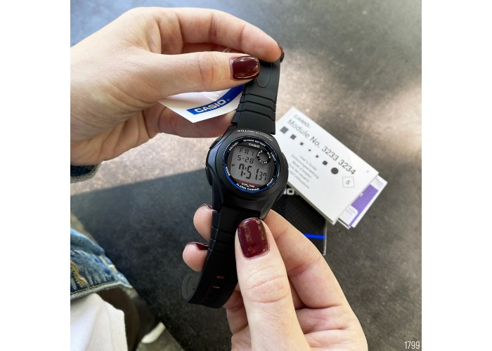 Мужские часы Casio F-200W-1AEF All Black
