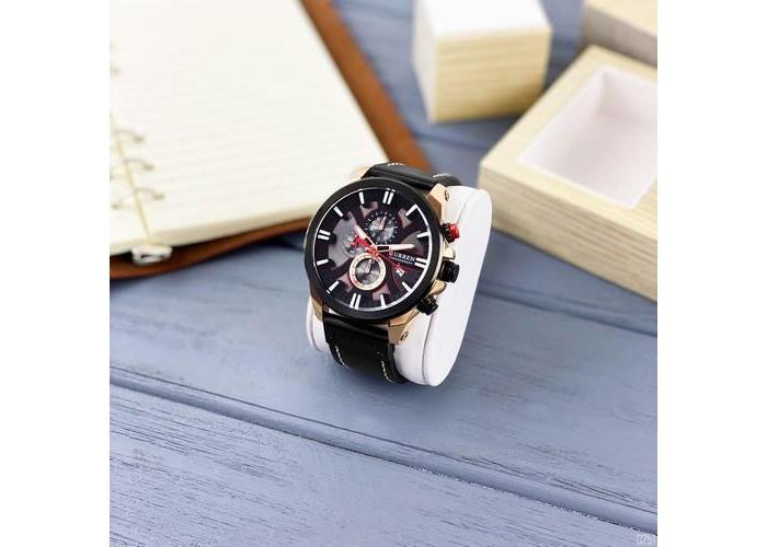 Мужские часы Curren 8346 Black-Cuprum