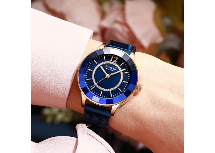 Женские часы Curren 9066 Blue-Cuprum