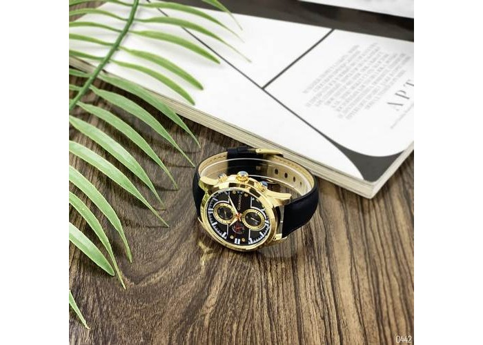 Мужские часы Guardo 012313-3 Black-Gold-Gray
