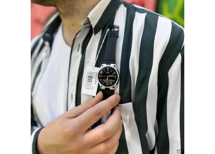 Мужские часы Casio AW-80-1AVEF Black-Silver