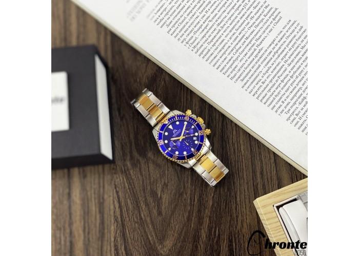 Мужские часы Chronte Nicolas Silver-Gold-Blue