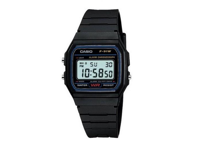 Мужские часы Casio F-91W-1YEG All Black