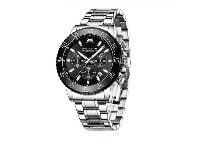 Мужские часы Chronte Matt Silver-Black