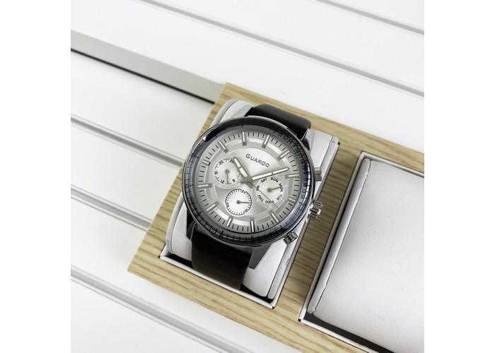 Мужские часы Guardo 012287-2 Brown-Silver-White