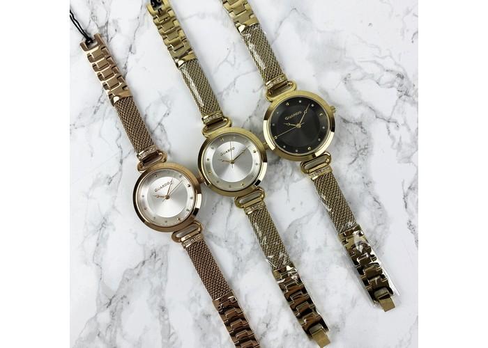 Женские часы Guardo T01059-4 Gold-White