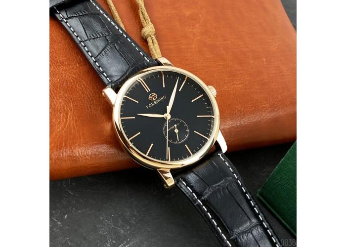 Мужские часы Forsining 1164 Gold-Black
