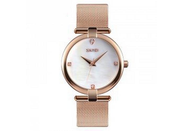 Женские часы Skmei 9177 Cuprum-White