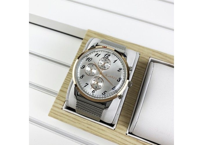 Мужские часы Guardo 012238-5 Silver-Cuprum-White