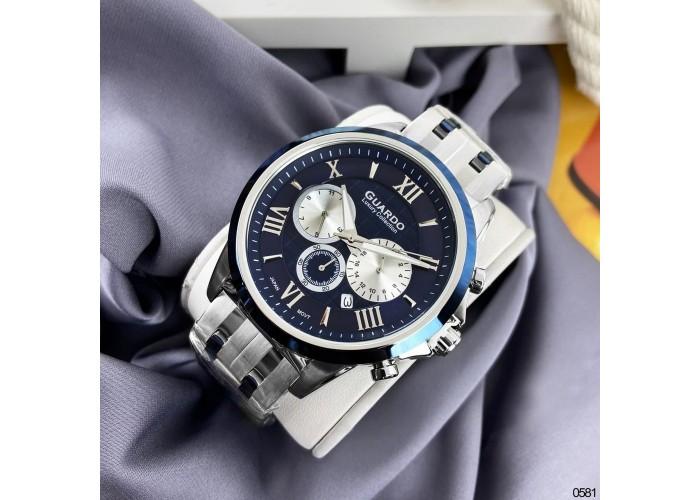 Мужские часы Guardo S01797-4 Silver-Blue