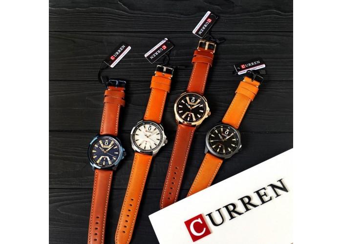 Мужские часы Curren 8379 Blue-Brown