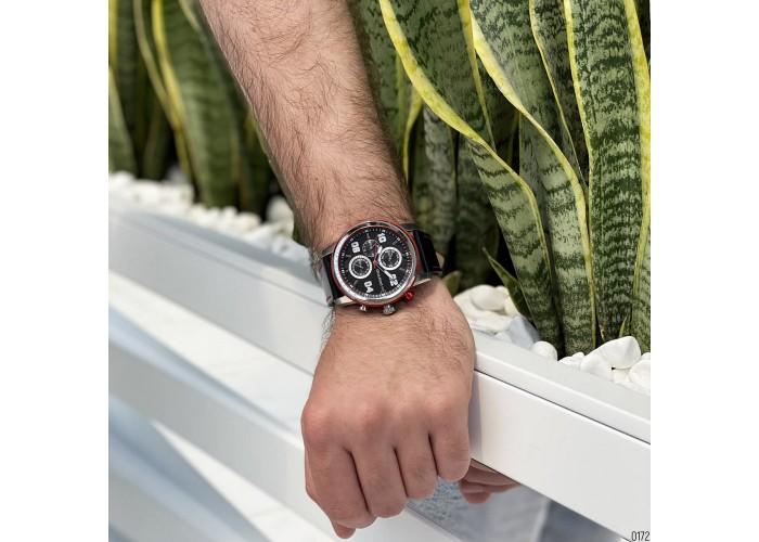 Мужские часы Guardo 011097-1 Black-Silver-Red