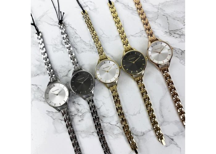 Женские часы Женский часы Guardo 012440-1 Silver-Black