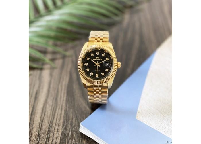 Женские часы Megalith 0038M Gold-Black Diamonds