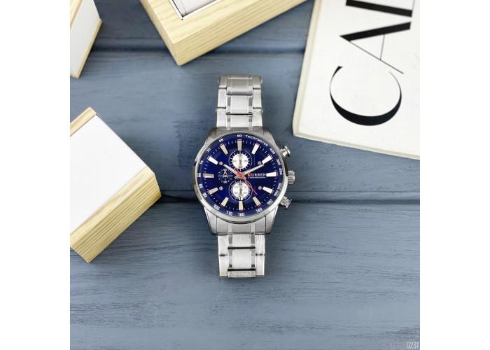 Мужские часы Curren 8351 Silver-Blue