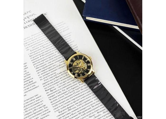 Мужские часы Forsining 1040 Black-Gold-Black