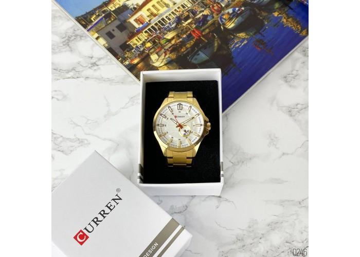 Мужские часы Curren 8372 Gold-White