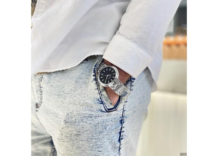 Мужские часы Guardo S00955-1Silver-Black