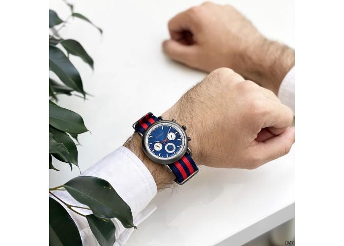 Мужские часы Guardo 11146-4 Blue-Red-Gray