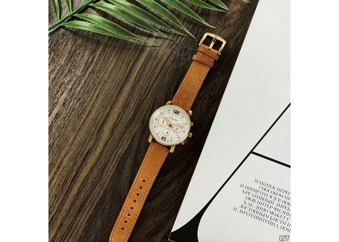 Мужские часы Guardo 12432(1)-5 Brown-Cuprum-White