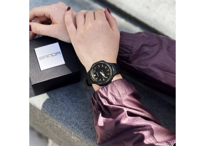 Женские часы Sanda 6005 Black-Gold