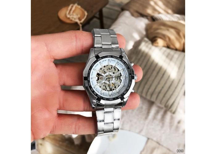 Мужские часы Forsining 8042 Silver-White