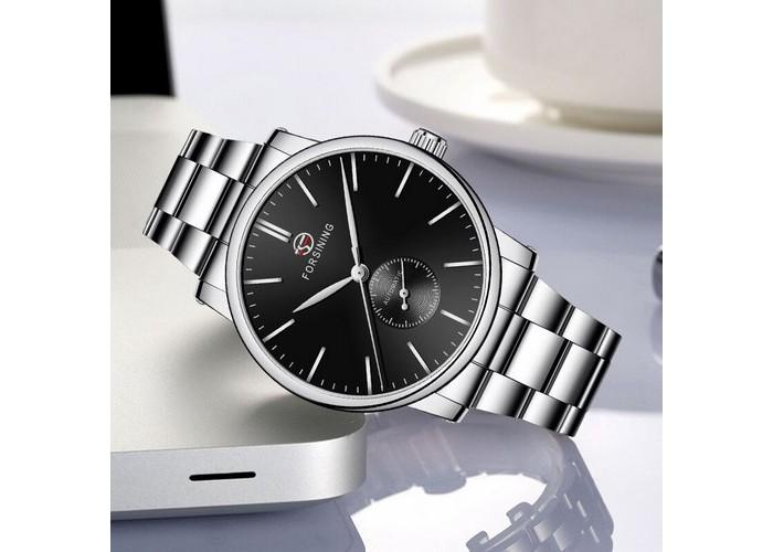 Мужские часы Forsining 60 Silver-Black