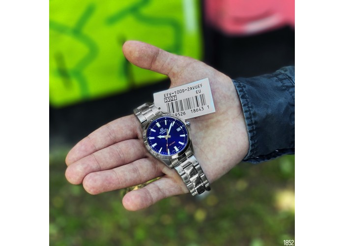 Мужские часы Casio EFV-100D-2AVUEF Silver-Blue