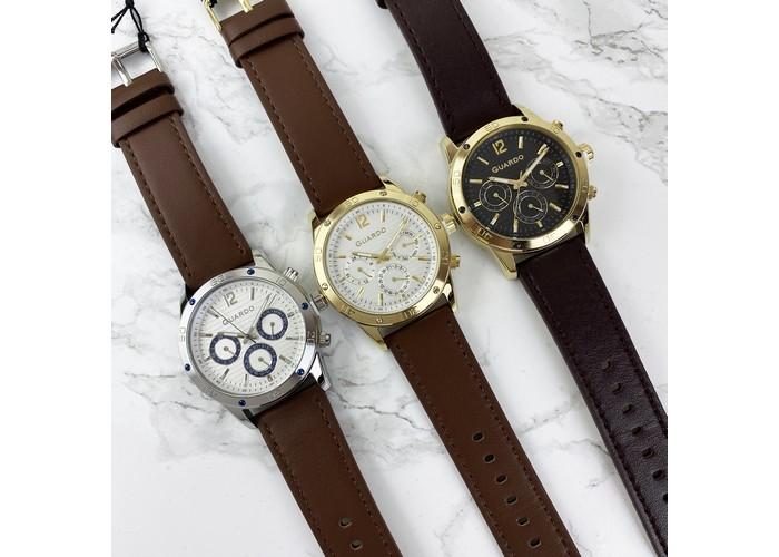 Мужские часы Guardo 011168-3 Dark Brown-Gold