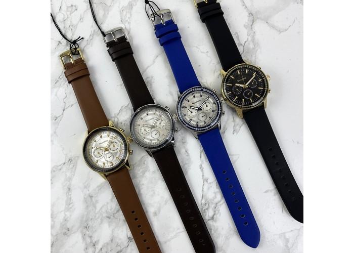 Мужские часы Guardo 012287-3 Blue-Silver