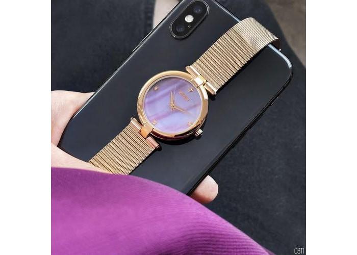Женские часы Skmei 9177 Cuprum-Pink