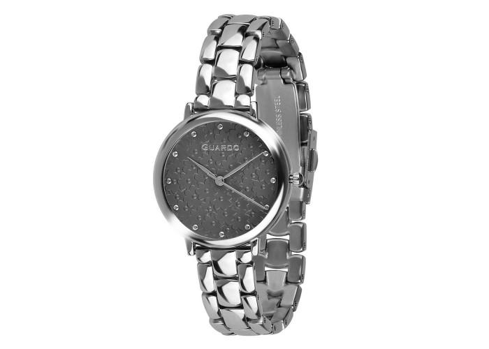 Женские часы Guardo 012503-1 Silver-Black
