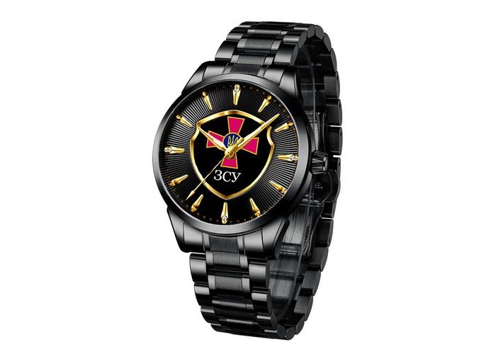 Мужские часы Chronte с логотипом ЗСУ All Black